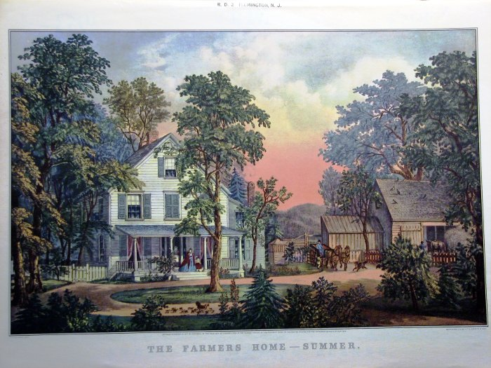 The Farmers Home   Summer. The Farmers Home   Summer by Currier   Ives